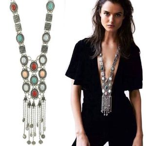 🆕 Boho Stone Bubble Pendents Statement Necklace